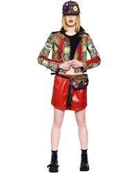 Atelier Vlisco Bonded Cotton Neoprene Leather Jacket - Lyst