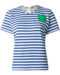 Peter Jensen Horizontal Stripe T-Shirt - Lyst