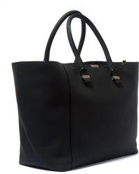 Victoria Beckham - Black Liberty Buffalo Leather Tote Bag - Lyst