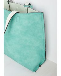 Triple 7 - Know A Thing Or Two-tone Bag In Mint - Lyst