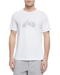 Rag & Bone Moto Bike Printed T-Shirt - Lyst