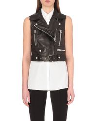 Acne Studios Selby Sleeveless Leather Jacket - For Women - Lyst