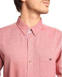 Selected Matthew Red Pique Shirt - Lyst