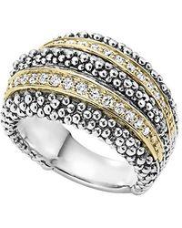 Lagos | Diamond Caviar Beaded Ring | Lyst