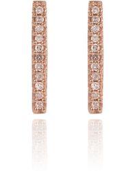 Adina Reyter Solid Pave Bar Rose pink - Lyst