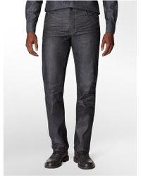 Calvin Klein Jeans Slim Straight Leg Dark Wash Jeans - Lyst