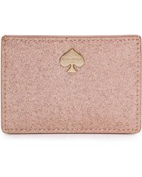 Kate Spade Card Holder - Rose Gold - Lyst