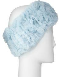 Neiman Marcus - Rabbit-fur Headband - Lyst