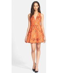 Alice + Olivia Mollie Brocade Dress - Lyst