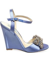 Betsey Johnson Blue By Wedge Evening Sandals - Lyst