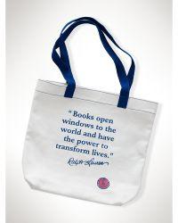 Ralph Lauren Global Literacy Tote - Lyst