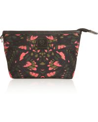 McQ Leathertrimmed Printed Canvas Pouch - Pink
