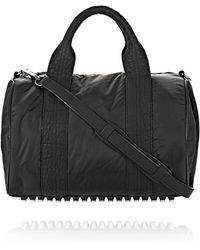 Alexander Wang Exclusive Rocco Satchel in Shiny Black with Rhodium - Lyst