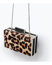 Zara Print Box Clutch - Lyst