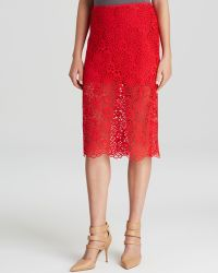 Cynthia Rowley Pencil Skirt - Lace - Lyst