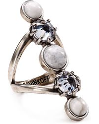Rebecca Minkoff - Five Stone Ring - Lyst