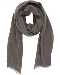 Barneys New York Black Cashmere Scarf - Lyst