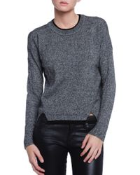 White + Warren Double Layered Sweater - Lyst
