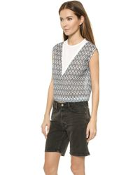 O'2nd - 1 By Frozen Print Crop Top - Lyst