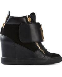 Giuseppe Zanotti Wedge Sneakers - Lyst