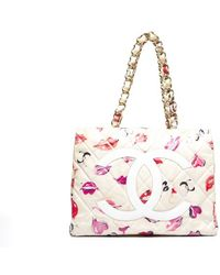 Chanel Preowned Kisses Xl Shopper Tote Bag - Lyst