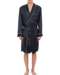 Zimmerli - Piped Satin Wrap Robe - Lyst