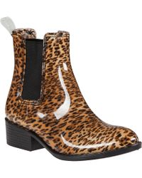 Jeffrey Campbell Stormy Rain Boot Cheetah Rubber animal - Lyst
