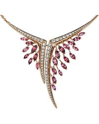 Shaun Leane - Aerial 18ct Rose-gold, Pink Tourmaline And White Diamond Necklace - Lyst