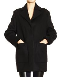 Balenciaga Over Sir Coat V Neck Patch Pockets Wool - Lyst