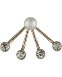 Sam Edelman Rodeo Show Pearl Floater Earring - Lyst