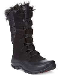 The North Face Womens Nuptse Purna Faux-fur Boots - Lyst
