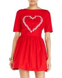 Love Moschino Floral Heart Dress - Lyst