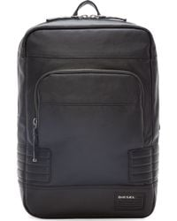 Diesel Black Coated Urban Pack Backpack black - Lyst
