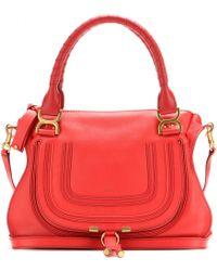 Chloé Marcie Medium Leather Shoulder Bag - Lyst