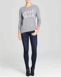 Moon & Meadow - C'est La Vie Intarsia Cashmere Sweater - Lyst