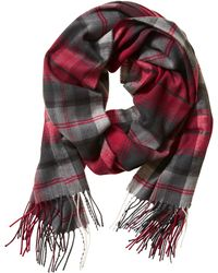 Banana Republic Plaid Twill Scarf - Cranberry Sauce - Lyst