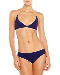 Chloé Chlo㉠Navy Halter Bikini - Lyst