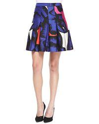 Diane von Furstenberg Gemma Floral Box-pleated Skirt - Lyst