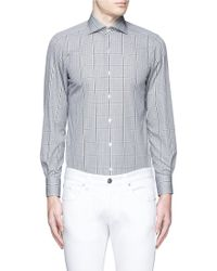 Tomorrowland | Windowpane Check Poplin Shirt | Lyst