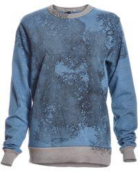 Simeon Farrar Powder Blue Soft Sweat With Branches - Multicolor