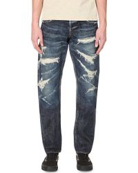 Mastercraft Union Relaxed-fit Tapered Jeans - Blue