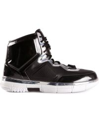 Alejandro Ingelmo Leather Panel High-Top Sneakers - Lyst