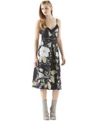 Gucci Floral Knight-print Silk Dress - Lyst