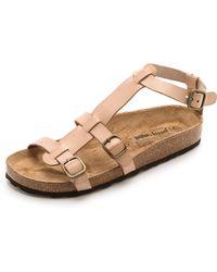 Jeffrey Campbell Cesar Ankle Strap Flat Sandals Nude - Lyst