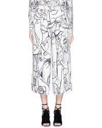 Emilio Pucci | Tourist Print Crepe Culottes | Lyst