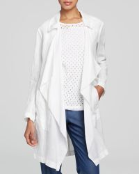DKNY Drape Front Linen Coat - Bloomingdale'S Exclusive - Lyst