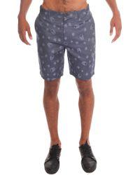 Lucien Pellat Finet Double Jacquard Bermuda Shorts gray - Lyst