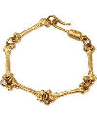 Alexander McQueen Skull & Bone Bracelet - Lyst