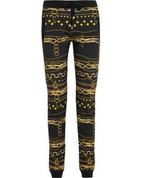 Versus  Printed Cottonjersey Track Pants - Lyst