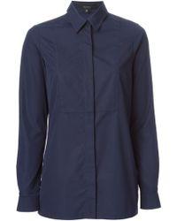 Gucci Blue Classic Shirt - Lyst